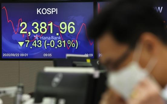 Seoul stocks open lower on Wall Street losses