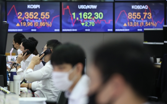 Seoul stocks open slightly higher on Wall Street rebound