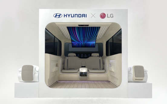 LG, Hyundai Motor co-work on homelike future car interior