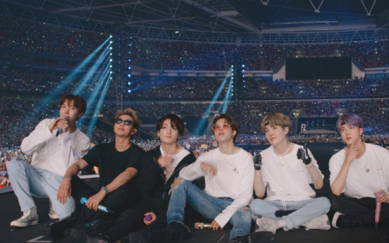 BTS' new docu film tops S. Korean box office upon release