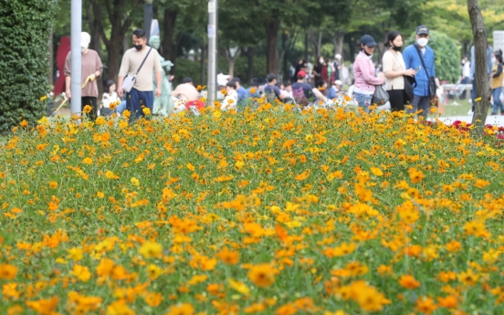 [Photo News] Public parks in Seoul toward the end of Chuseok holiday
