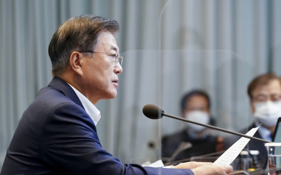 Moon urges no let-up in coronavirus alert ahead of another holiday period