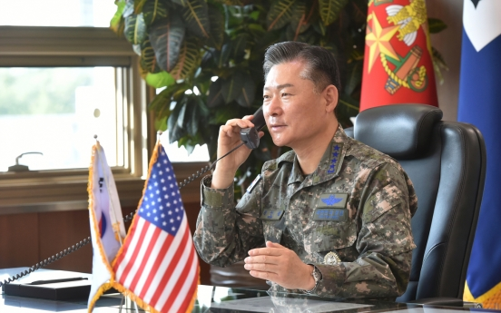 Military chiefs of S. Korea, US vow to strengthen combined defense posture