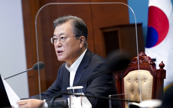 Moon pledges to nurture SMEs, startups as leaders of post-pandemic 365bet体育备用网