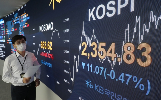 Seoul shares open lower on Wall Street losses