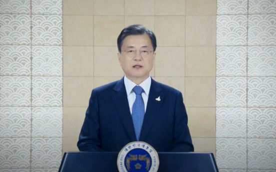 Moon calls for US support in ending Korean War