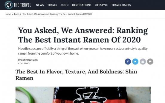 Nongshim Shin Ramyun Black named among world's best instant noodles