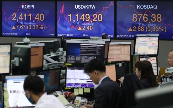 Seoul stocks snap 8-day winning streak on virus resurgence