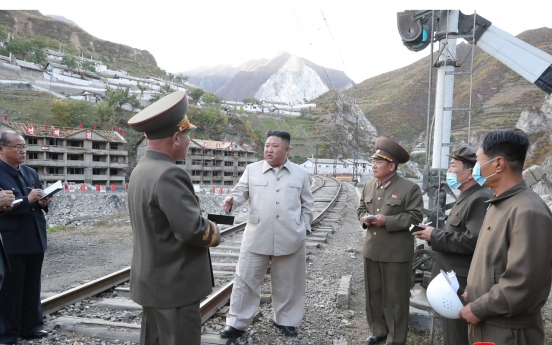 NK leader visits mining town under recovery from typhoon damage