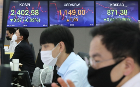 Seoul stocks open lower on US stimulus deadlock, vaccine worries