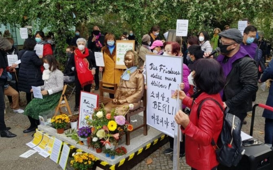 Berlin district office withholds order to remove sex slave statue