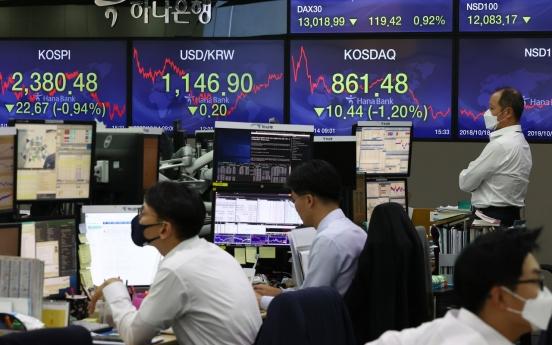 Seoul stocks tumble almost 1% over virus scare