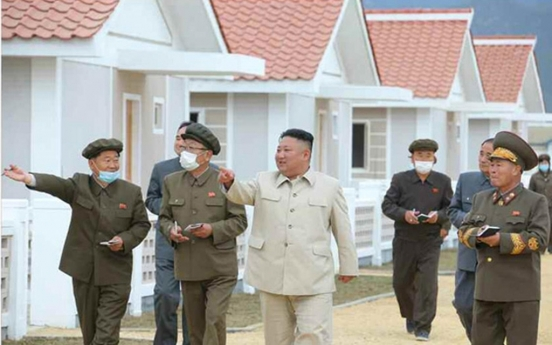 NK leader visits typhoon recovery area again