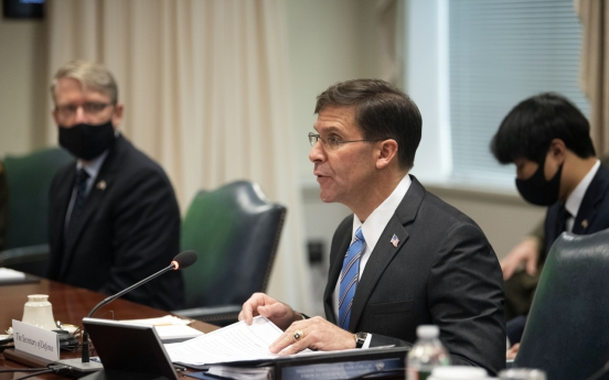 Esper says equitable burden-sharing necessary for 'stable stationing' of US troops