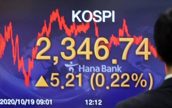 Seoul stocks snap 4-day losing streak on bargain hunting