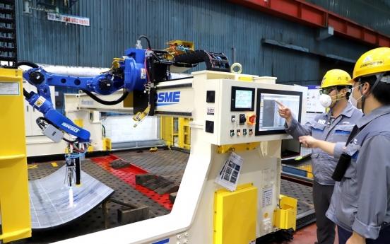 Daewoo Shipbuilding develops world's first metalworking robot