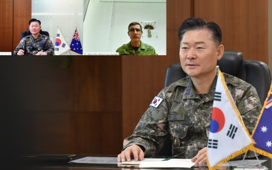S. Korean, Australian military chiefs agree to beef up cooperation