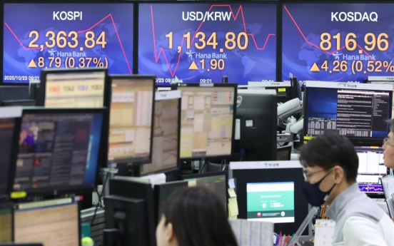 Seoul stocks open tad higher on earnings improvement hopes