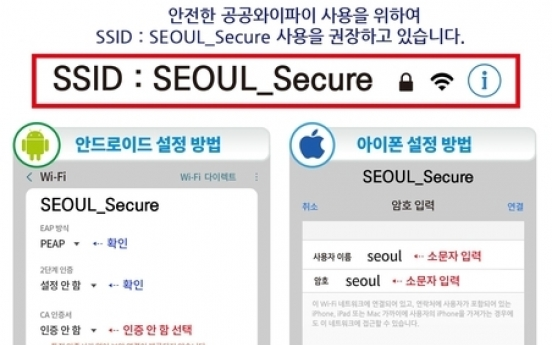 Seoul city to launch new public Wi-Fi service on trial basis