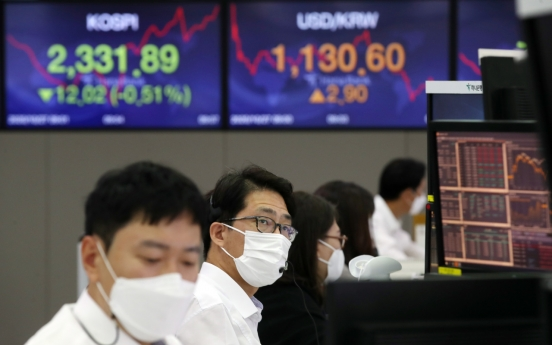 Seoul shares down on virus concerns, US election uncertainties
