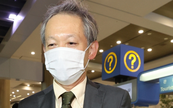 Japanese diplomat arrives in Seoul for talks on wartime history, trade