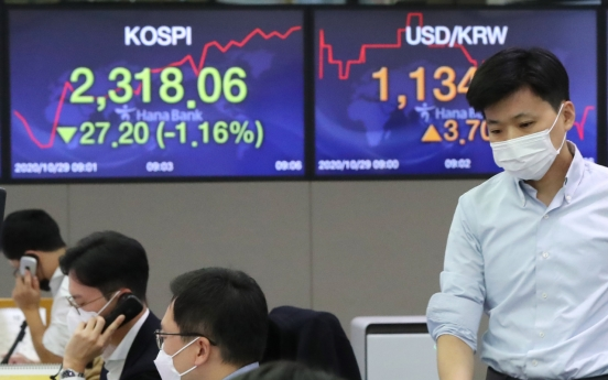 Seoul stocks open sharply lower on Wall Street plunge