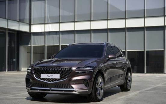 Genesis unveils design for new SUV GV70