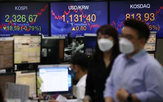 Seoul stocks open lower on tech loss