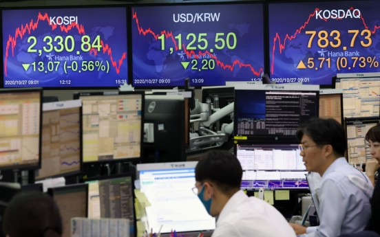 Seoul stocks sink over 2.5% on massive foreign sell-offs