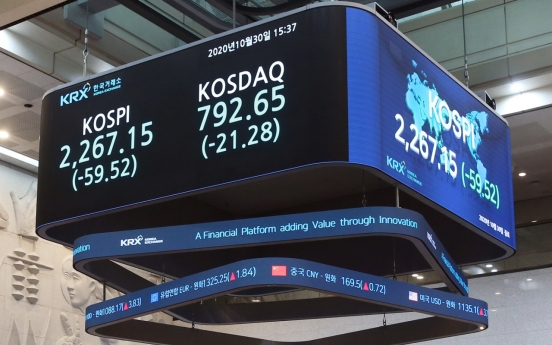 Kospi records first monthly fall after March