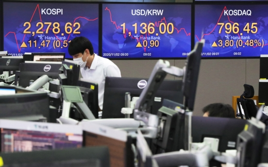 Seoul stocks open higher ahead of US election, FOMC meeting