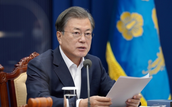 Moon says carbon neutrality is a necessity for survival