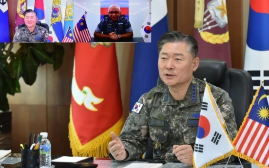 Korean, Malaysian military chiefs agree to boost defense cooperation