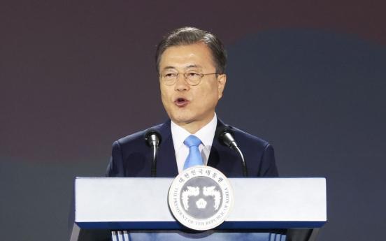 Moon says Seoul to continue to seek denuclearization, permanent peace on Korean Peninsula