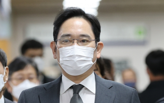 Samsung heir appears in court for bribery retrial
