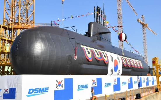 S. Korea launches new 3,000-ton-class SLBM submarine