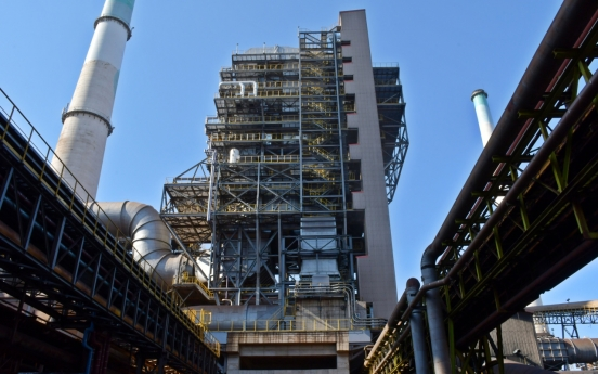 Posco completes air-pollutant-cutting facility in Pohang