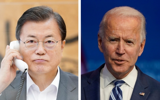 Moon, Biden reaffirm commitment to alliance, cooperation on global issues