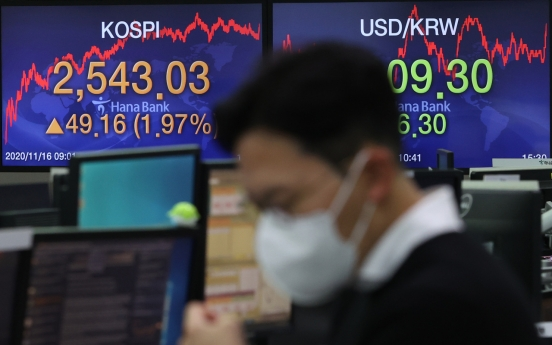 Seoul stocks hit almost 3-year high on chip rally, vaccine hopes