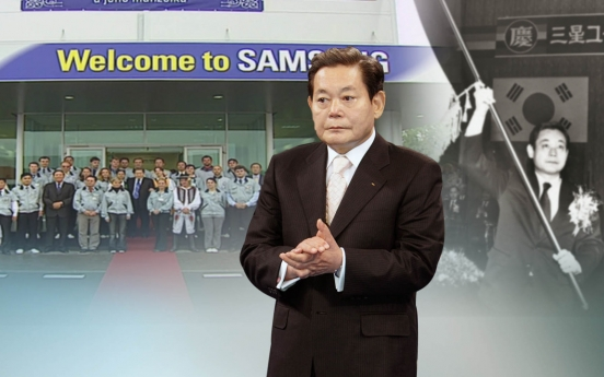 Late Samsung chief's stock value tops W20tr