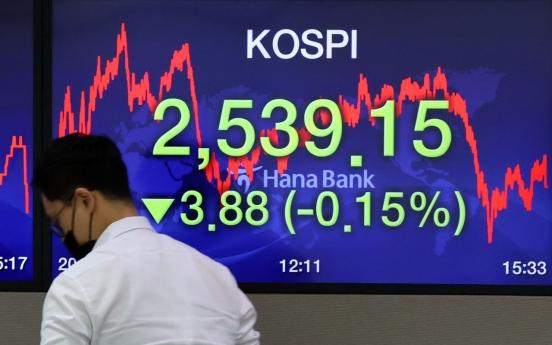 Seoul stocks down as investors lock in gains
