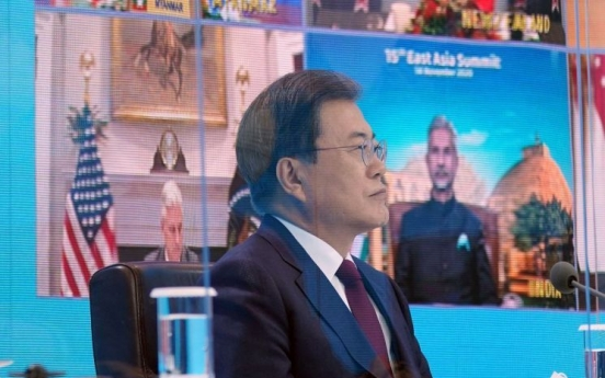 Moon to join virtual summits of APEC, G20 this week