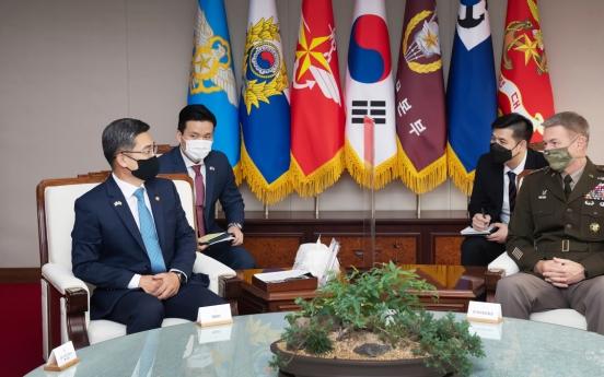 S. Korean defense chief, US army chief reaffirm alliance