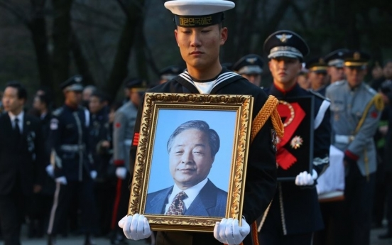 Memorial service for ex-President Kim Young-sam held in Seoul