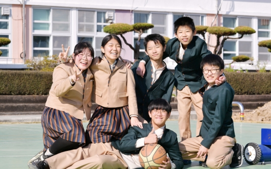 Hanbok-inspired school uniforms worn at two schools