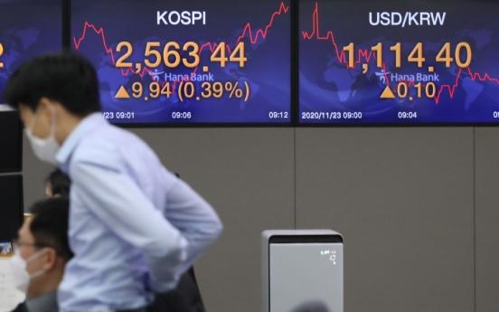 Seoul stocks open higher on tech, bio gains