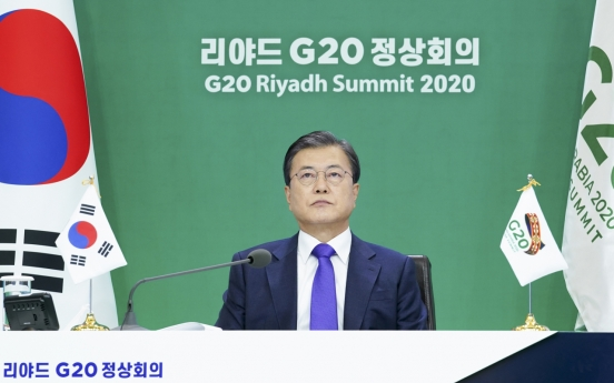 Moon pledges renewed drive for climate goals at G-20