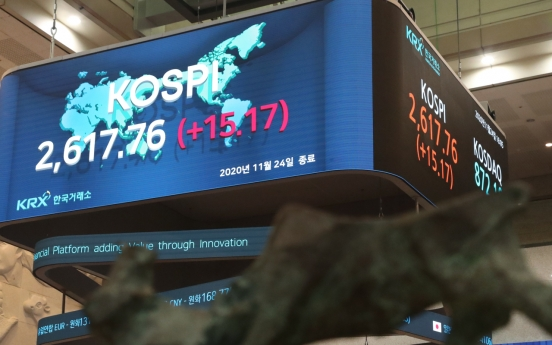 Kospi's record-high rally continues on COVID-19 vaccine, recovery hopes