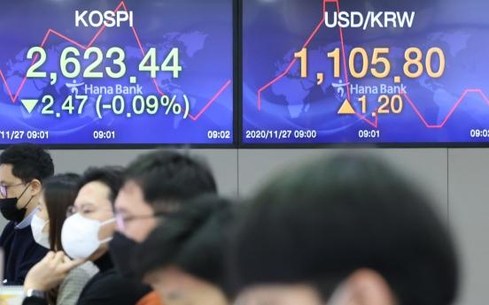 Seoul stocks open nearly flat on virus concerns