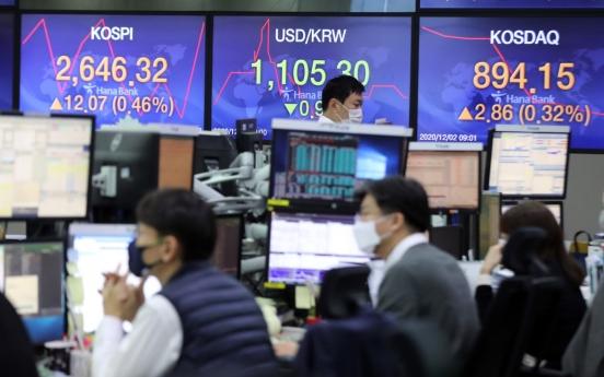 Seoul stocks set another record high; Korean won surges